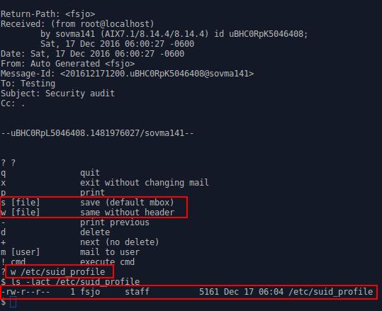 UNIX Nostalgia: AIX Bug Hunting Part 2 - Bellmail Privilege