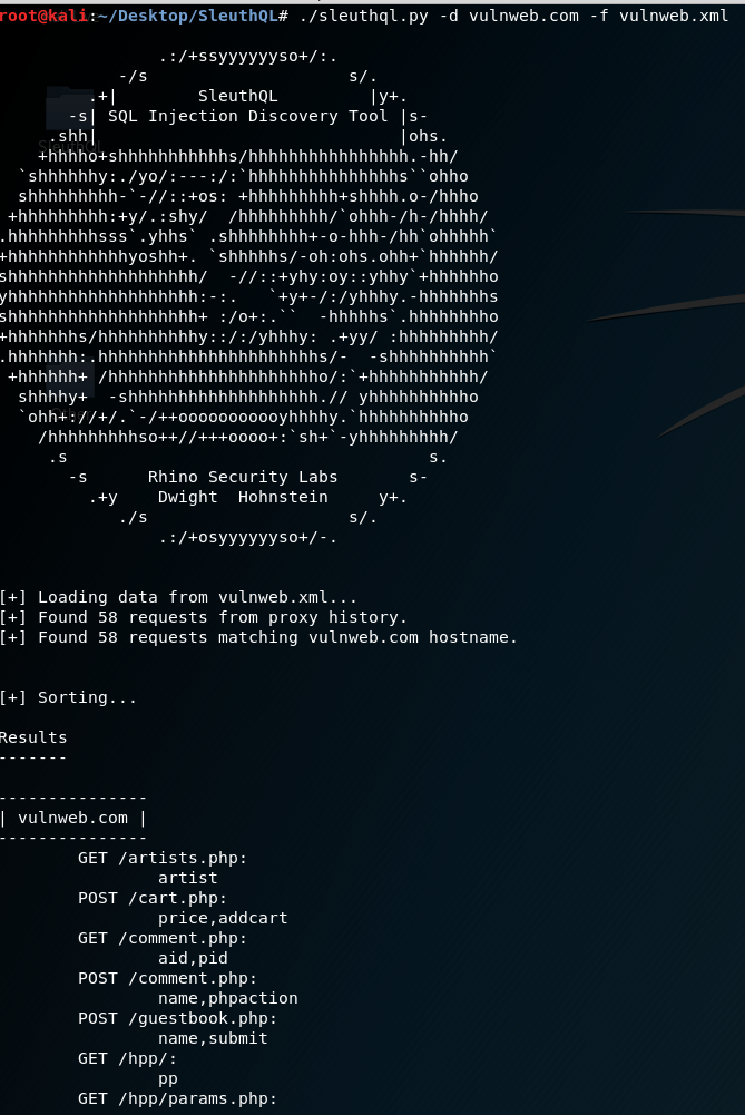 SleuthQL: A SQL Injection Discovery Tool - Rhino Security Labs